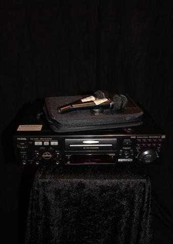 Karaokespelare inkl. skivor och mic
