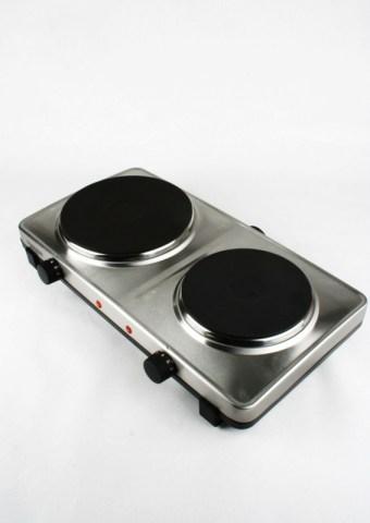 Kokplatta med två plattor