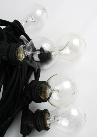 Ljusslinga med klara lampor 20 m