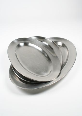 Uppläggningsfat, rostfritt 48 cm