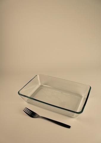 Gratängform, glas 25×16 cm