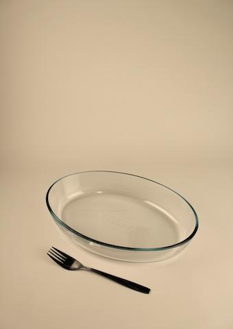Gratängform, glas oval 30 cm
