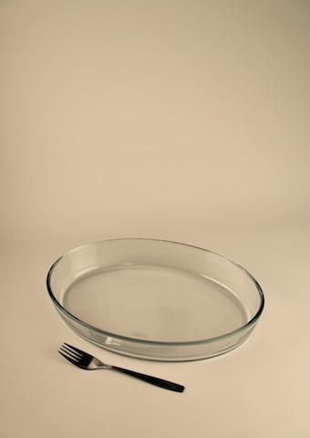 Gratängform, glas oval 35 cm