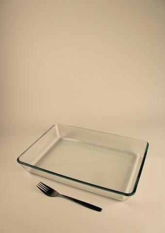Gratängform, glas 35×25 cm