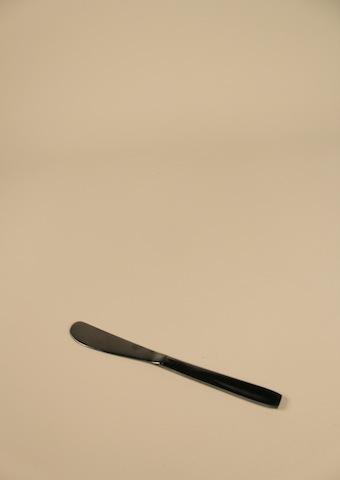 Smörkniv, rostfri/svart