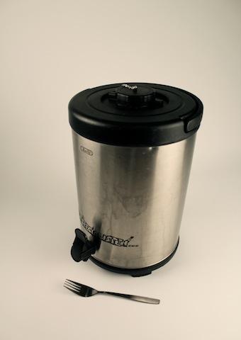 Termos 8 liter med tapp, rostfri