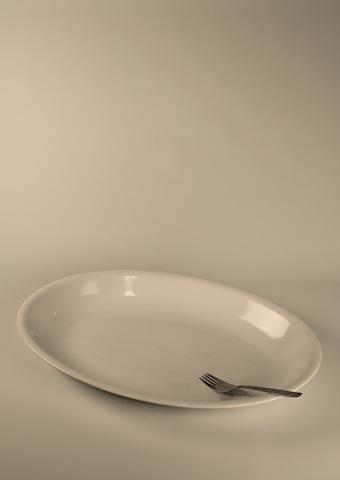 Uppläggningsfat, ovalt 50 cm