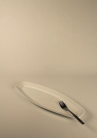 Uppläggningsfat, smalt för buffé 41 cm