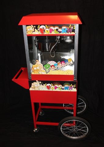Popcornemaskin på hjul